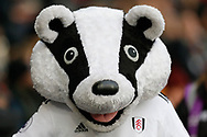 Billy the Badger, the Fulham mascot, before The FA Cup 3rd round match between Fulham and Oldham Athletic at Craven Cottage, London, England on 6 January 2019.