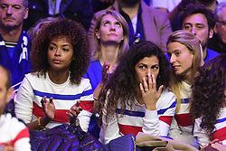 November 23, 2018 - Villeneuve D Ascq, France, France - Susan Gossage (femme de Jeremy Chardy).Noura El Shwekh Tsonga (Credit Image: © Panoramic via ZUMA Press)