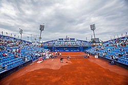 Before semi-final of singles at 25th Vegeta Croatia Open Umag, on July 27, 2014, in Stella Maris, Umag, Croatia. Photo by Urban Urbanc / Sportida