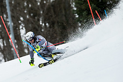 """Victor Muffat-Jeandet (FRA) competes during 1st Run of FIS Alpine Ski World Cup 2017/18 Men's Slalom race named """"Snow Queen Trophy 2018"""", on January 4, 2018 in Course Crveni Spust at Sljeme hill, Zagreb, Croatia. Photo by Vid Ponikvar / Sportida"""
