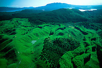 Aerial view of landscape near Rotorua (North Island), New Zealand