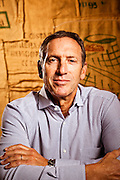 Howard Schultz, CEO of Starbucks Coffee.  Photographed by Brian Smale for Costco Connection Magazine at Starbucks headquarters in Seattle WA.