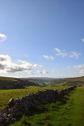 Yorkshire Dales near Kettlewell, Upper Wharfedale, UK Sep 2020