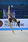 Kragulj Sara during the qualifying at clubs in Pesaro World Cup at the Adriatic Arena on 27 April 2013. Sara is a Slovenian individual gymnast born on 26 October 1996 in Ljubljana, Slovenia.