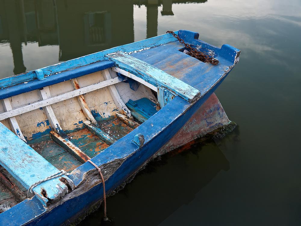 Italy - Chioggia - Blue barque