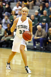 10 January 2009: Hope Schulte.The Illinois Wesleyan Titans, ranked #1 in the latest USA Today/ESPN poll, take down the Lady Reds of Carthage and remain undefeated,  2-0 in the CCIW and over all to 12-0. This is the first time in the history of the Lady Titans Basketball they have been ranked #1 The Titans and Lady Reds played in the Shirk Center on the Illinois Wesleyan Campus in Bloomington Illinois.