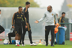 September 5, 2018 - Tubize, BELGIUM - Belgium's Youri Tielemans and Belgium's assistant coach Thierry Henry pictured during a training session of Belgian national soccer team the Red Devils in Tubize, Wednesday 05 September 2018. The team is preparing for a friendly match against Scotland on 07 September and the UEFA Nations League match against Iceland on 11 September. BELGA PHOTO BRUNO FAHY (Credit Image: © Bruno Fahy/Belga via ZUMA Press)