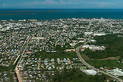 Belize City<br /> Aerial view<br /> Belize,<br /> Central America