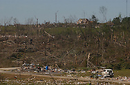 Rainsville, Alabama: Tornados cut several wide swaths out of Rainsville, a rural town in DeKalb County, in northeastern Alabama. Officials have confirmed that 33 people died in the town and surrounding county. (PHOTO: MIGUEL JUAREZ LUGO)