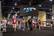 LAS VEGAS, NV - JULY 10:  Fans rush into the UFC Fan Expo Day 3 at the Las Vegas Convention Center on July 10, 2016 in Las Vegas, Nevada. (Photo by Cooper Neill/Zuffa LLC/Zuffa LLC via Getty Images) *** Local Caption ***