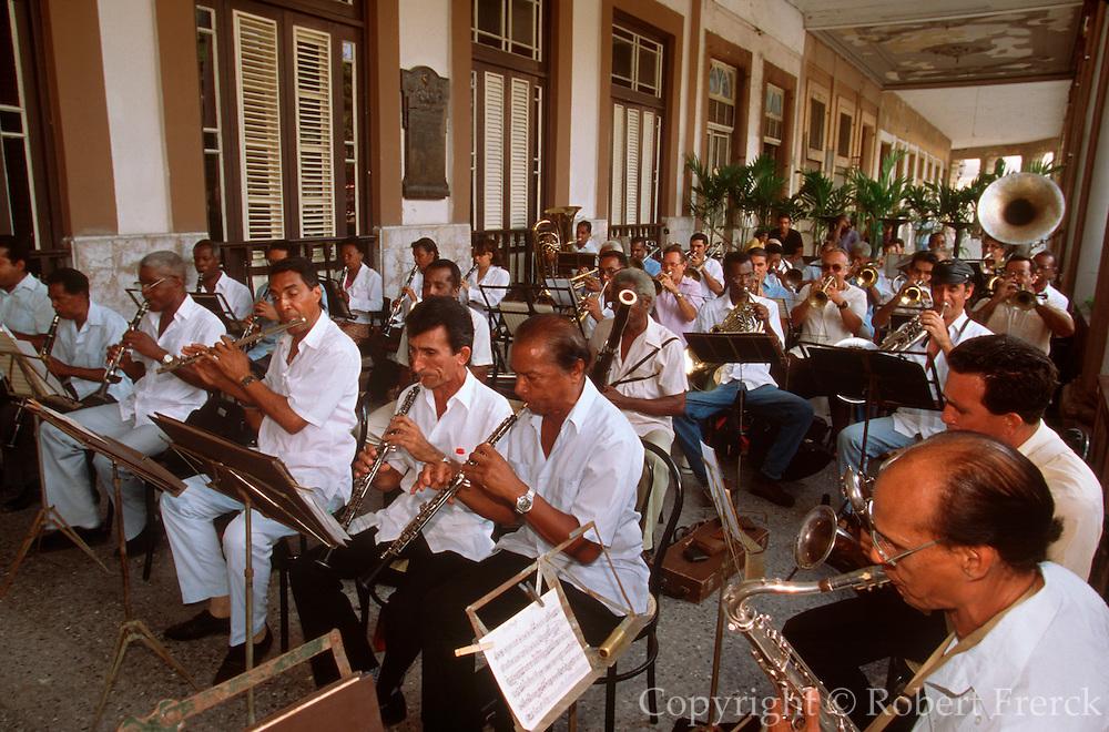 CUBA, HAVANA (HABANA VIEJA) band concert performance at the Hotel  Inglaterra next to the Gran Teatro