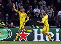 Photo: Paul Thomas.<br />PSV Eindhoven v Liverpool. UEFA Champions League, Quarter Final, 1st Leg. 03/04/2007.<br /><br />Peter Crouch of Liverpool celebrates his goal.