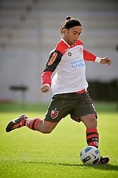 Ronaldinho Gaúcho durante a partida entre as equipes do Internacional e Flamengo, válida pela 18ª rodada do Campeonato Brasileiro, no Estadio Beira Rio em Porto Alegre. FOTO: Jefferson Bernardes/Preview.com