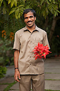 Staff at Tranquil, a boutique hotel on a plantation in Wayanad in Kerala, India