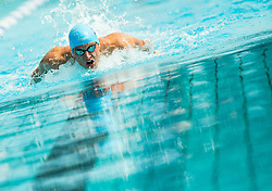 Robert Zbogar of Gorenjska Banka Radovljica competes in 100m Butterfly during Slovenian Swimming National Championship 2014, on August 3, 2014 in Ravne na Koroskem, Slovenia. Photo by Vid Ponikvar / Sportida.com