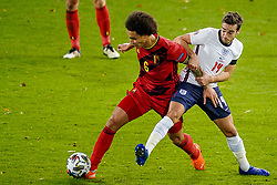 LEUVEN, BELGIUM - Sunday, November 15, 2020: England's substitute Harry Winks (R) tackles Belgium's Axel Witsel during the UEFA Nations League Group Stage League A Group 2 match between England and Belgium at Den Dreef. Belgium won 2-0. (Pic by Jeroen Meuwsen/Orange Pictures via Propaganda)