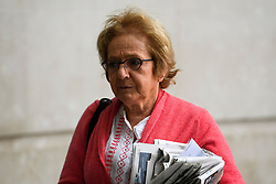 © Licensed to London News Pictures. 10/07/2016. London, UK. Labour MP MARGARET HODGE arrives at the BBC Broadcasting House in London on July 10, 2016.  Photo credit: Ben Cawthra/LNP