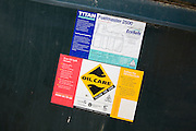 Oil Care information labels on Titan Fuelmaster container
