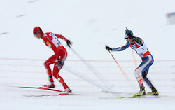 Todd Lodwick of USA and Anssi Koivuranta of Finland at Nordic Combined Individual Gundersen NH, 10 km, at FIS Nordic World Ski Championships Liberec 2008, on February 22, 2009, in Vestec, Liberec, Czech Republic. (Photo by Vid Ponikvar / Sportida)