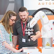 13.06.2018.            <br /> Up to 1,000 delegates visited Ireland's largest manufacturing supply chain conference and trade exhibition - Manufacturing Solutions Ireland 2018 - at Limerick Institute of Technology (LIT) in the course of today (Wednesday, June 13). <br /> <br /> Pictured at he event were Lisa Harnett, Stryker Medical and Pat Downes, DesignPro Automation.<br /> <br /> In its second year, the conference and engineering trade show, hosted by the UK tool technologies trade association - the GTMA in conjunction with LIT, exceeded last year's attendance thereby helping to generate in excess of a quarter of a million euro for the local economy. The Manufacturing Solutions event was supported by the Syndicat du Décolletage Congress also held in Limerick. Picture: Alan Place