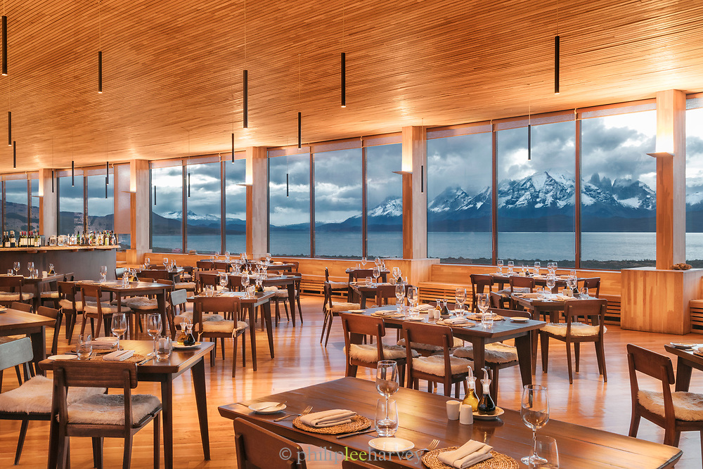 Restaurant of Tierra Patagonia Hotel in Torres del Paine National Park, Chile