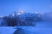 Winter morning in Yellowstone's northern range near Cooke City, Montana.