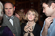 A.A.GILL; JESSICA LAMBERT, The Omnivore hosts the third Hatchet  Job of the Year Award. Sponsored by the Fish Society.  The Coach and Horses. Greek st. Soho. London. 11 February 2014.