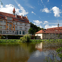 Europe, Germany, Bamberg. Scenic Bamberg on the Regnitz River.