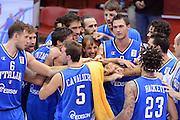 CHOMUTOV 18 AGOSTO 2012<br /> BASKET FIP NAZIONALE ITALIANA<br /> ITALIA - REPUBBLICA CECA<br /> NELLA FOTO esultanza team italia<br /> FOTO CIAMILLO