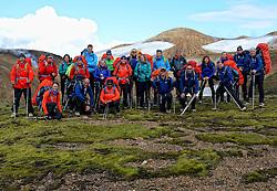 07-07-2014 ISL: Iceland Diabetes Challenge Dag 3, Hrafntinnusker<br /> Trek van Hrafntinnusker naar Aftavatn / Groep, Team