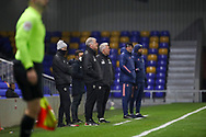 AFC Wimbledon manager Glyn Hodges watching the game during the EFL Trophy match between AFC Wimbledon and U21 Arsenal at Plough Lane, London, United Kingdom on 8 December 2020.