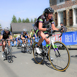 HUY(BEL) cycling<br /> The Fleche Walonne is the last European spring worldcup classic women. With two times the climb of the Mur de Huy.<br /> Willeke Knoil passage Muur van Huy