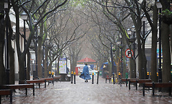 South Africa - Cape Town - 2 July 2020 - St Georges Mall street. Another storm is approachingthe Western Cape. Photographer: Armand Hough/African News Agency(ANA)