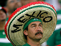 Photo: Glyn Thomas.<br />Portugal v Mexico. FIFA World Cup 2006. 21/06/2006.<br /> A Mexico fan wearing a sombrero hat.