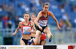 May 31, 2018 - Rome, Italy - Tugba Guvenc (TUR) competes in 3000m Steeplechase women during Golden Gala Iaaf Diamond League Rome 2018 at Olimpico Stadium in Rome, Italy on May 31, 2018. (Credit Image: © Matteo Ciambelli/NurPhoto via ZUMA Press)