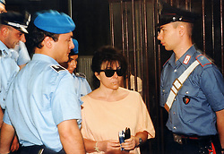 Italy, Milan - undated.Patrizia Reggiani arrested..Patrizia Reggiani arranged the murder of her ex-husband Maurizio Gucci in 1995, and she was sentenced to 26 years in prison in 1998..Here during a trial. (Credit Image: © Maule/Fotogramma/Ropi via ZUMA Press)