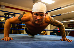 """Britain's Worst Boxer"" Robin Deakin at training at a Crawley gym ahead of his bareknuckle fight at the O2.. Crawley, September 05 2018."