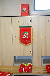 YSTRAD MYNACH, WALES - Wednesday, April 5, 2017: The shirt of Wales captain Jessica Fishlock in the dressing room ahead of her 100th appearance for Wales during a Women's International Friendly match against Northern Ireland at Ystrad Mynach. (Pic by Laura Malkin/Propaganda)
