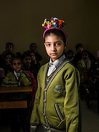 Rita, age 8, from Aleppo, is a Syrian refugee child at a the Friendship Syrian school.