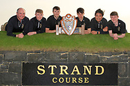 Team RBAI - Jack Allen (Team Manager), Aaron Marshall, Josh Robinson, Luke Kelly, Marco Deane and Darcy Hogg winners of the Irish Schools Senior Championship at Portstewart Golf Club, Portstewart, Co Antrim on Tuesday 23rd April 2019.<br /> Picture:  Thos Caffrey / www.golffile.ie<br /> <br /> All photos usage must carry mandatory copyright credit (© Golffile | Thos Caffrey)