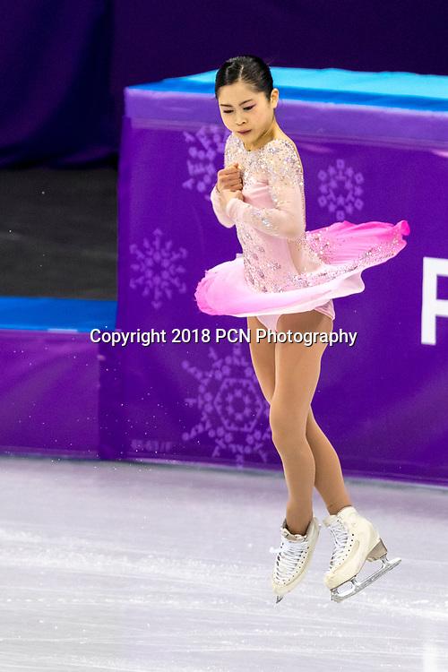 Satoko Miyahara (JPN) competing in the Figure Skating - Ladies' Short at the Olympic Winter Games PyeongChang 2018