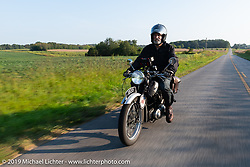 Paul Warrenfelt riding his 1935 Triumph 250cc Single during the Cross Country Chase motorcycle endurance run from Sault Sainte Marie, MI to Key West, FL (for vintage bikes from 1930-1948). Stage 5 had riders cover 213 miles from Bowling Green, KY to Chatanooga, TN USA. Tuesday, September 10, 2019. Photography ©2019 Michael Lichter.