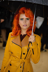 Arrivals for Burberry Prorsum Spring / Summer 2014. <br /> Paloma Faith arrives for the Burberry Prorsum Spring / Summer 2014 show, London, United Kingdom. Monday, 16th September 2013. Picture by Chris Joseph / i-Images