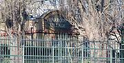 Putney, London,  Tideway Week, Championship Course. River Thames,  Pedestrian Entrance to Harrods Village, William Hunt Mansions,<br /> Tuesday  28/03/2017<br /> [Mandatory Credit; Credit: Peter Spurrier/Intersport Images.com ]