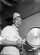 "09/06/1954<br /> 06/09/1954<br /> 09 June 1954<br /> Mr Desmond Cunningham, 2nd Chef at Dublin Airport for ""Liberty""."