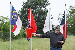 MC Toyer speaking at dedication ceremony of Texas Historical Commission marker for Big Spring,  Trinity Forest, Dallas, Texas, USA