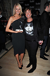TESS DALY and JULIEN MACDONALD at the 2nd Rodial Beautiful Awards in aid of the Hoping Foundation held at The Sanderson Hotel, 50 Berners Street, London on 1st February 2011.