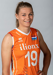 10-05-2018 NED: Team shoot Dutch volleyball team women, Arnhem<br /> Nika Daalderop #19 of Netherlands