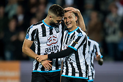 (L-R) Robin Propper of Heracles Almelo, Reuven Niemeijer of Heracles Almelo during the Dutch Eredivisie match between Heracles Almelo and Feyenoord Rotterdam at Polman stadium on September 09, 2017 in Almelo, The Netherlands