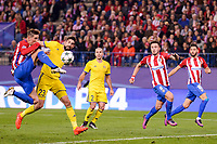 Atletico de Madrid's player Fernando Torres, Saúl Ñígez and Yannick Carrasco and CF Rostov's player Miha Mevlja and Timofei Kalachev during a match of UEFA Champions League at Vicente Calderon Stadium in Madrid. November 01, Spain. 2016. (ALTERPHOTOS/BorjaB.Hojas)